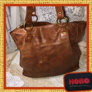 HOBO Embossed Leather Lined Tote USED CONDITION